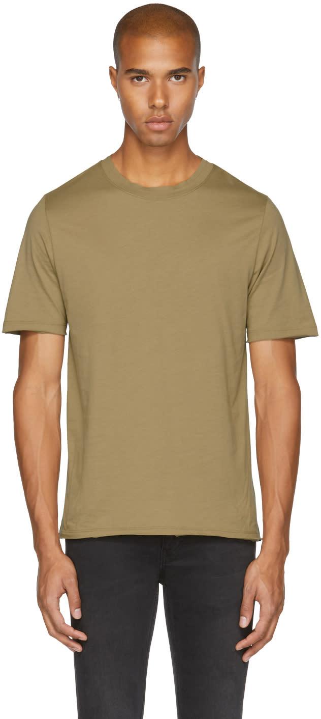 Image of Blk Dnm Tan 125 Raw Crewneck T-shirt