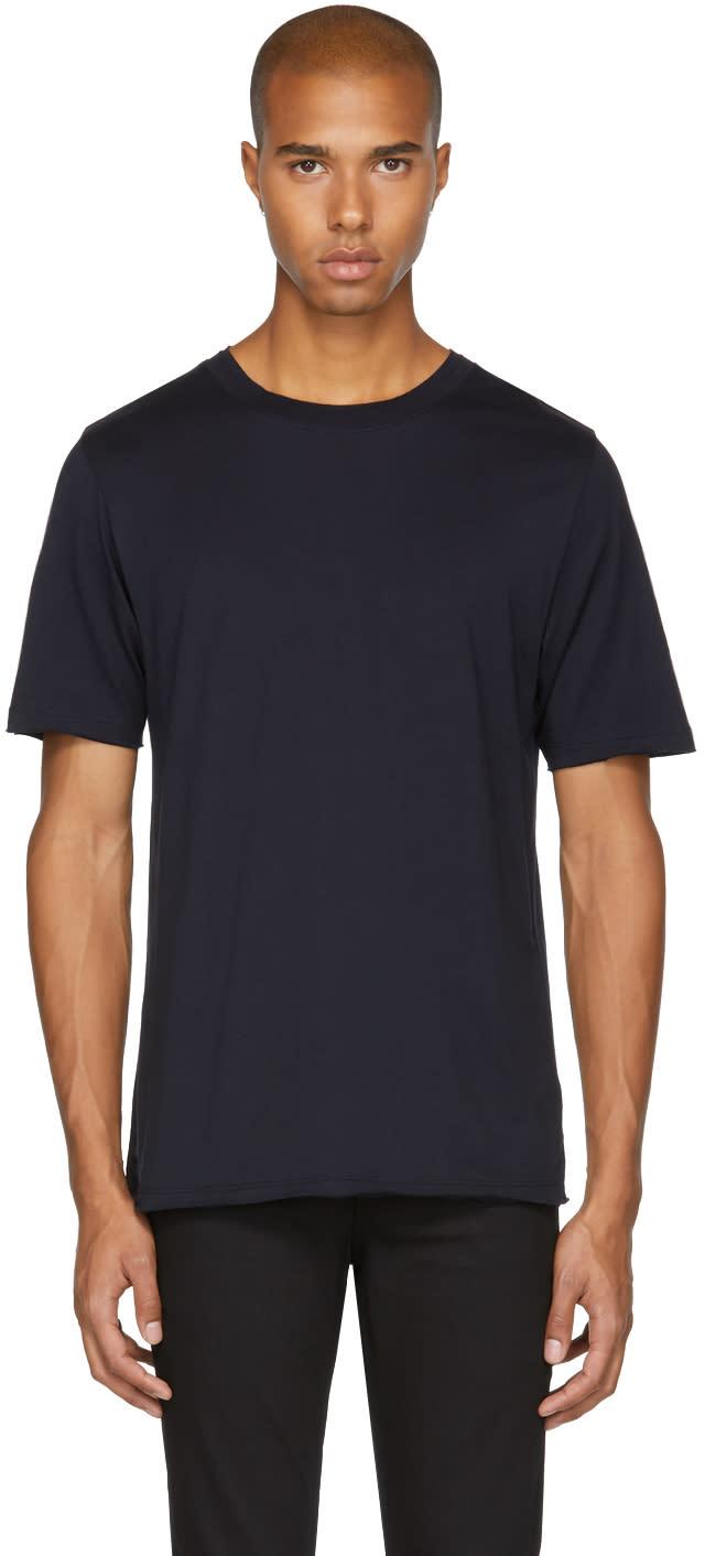 Image of Blk Dnm Black 125 Raw Crewneck T-shirt