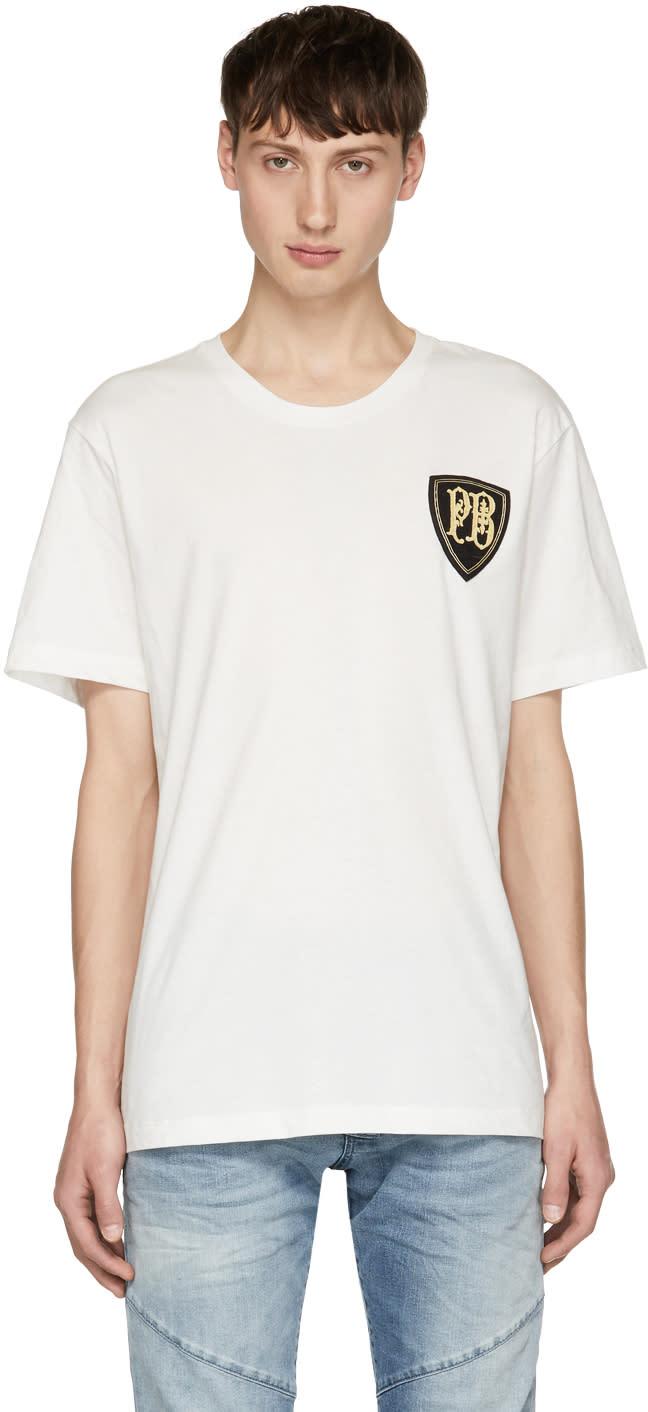Pierre Balmain T-shirt Blanc Crest Logo