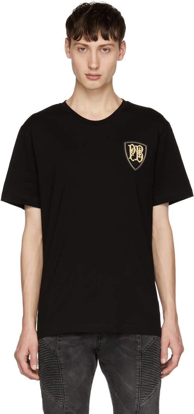 Image of Pierre Balmain Black Crest Logo T-shirt
