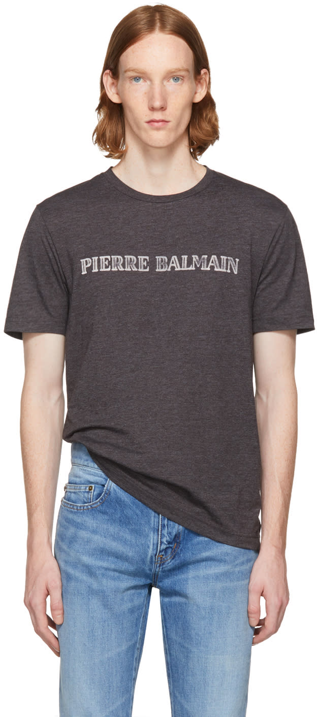 Pierre Balmain T-shirt à Logo Gris