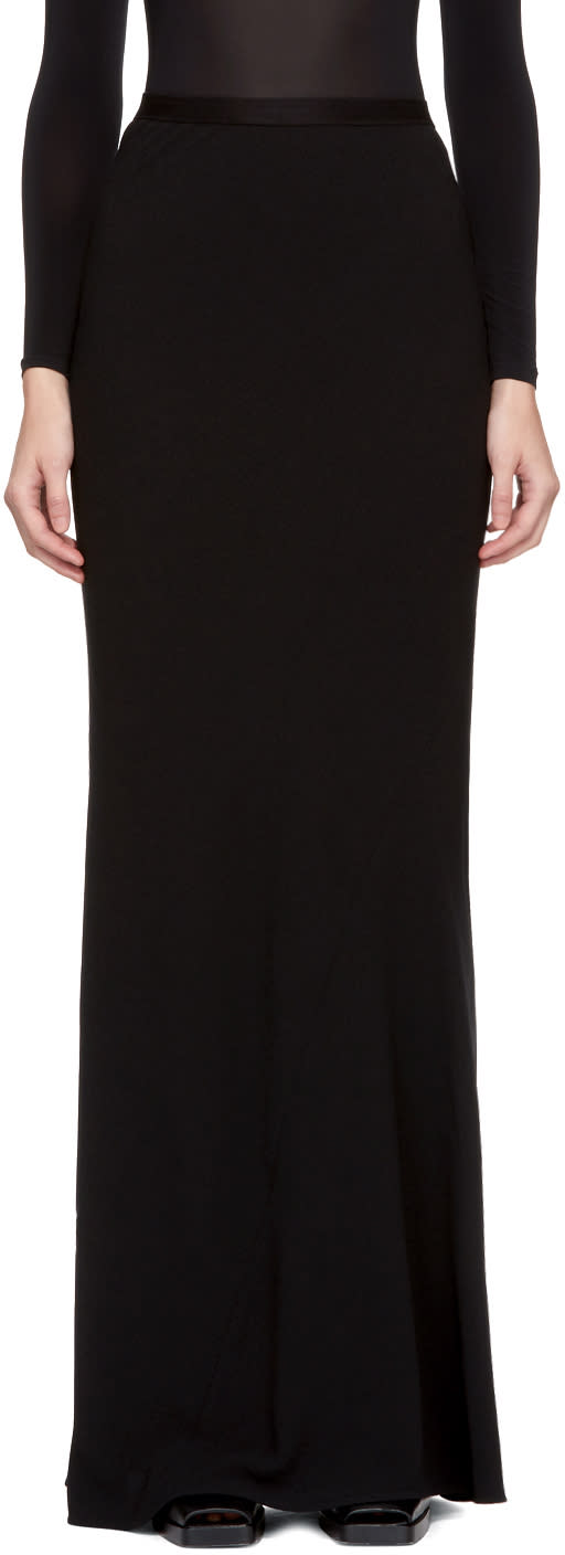Image of Gareth Pugh Black Bias Cut Skirt