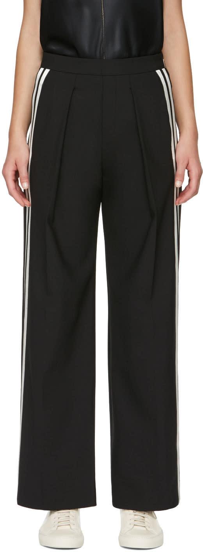 Neil Barrett Black Stripes Wide-leg Trousers