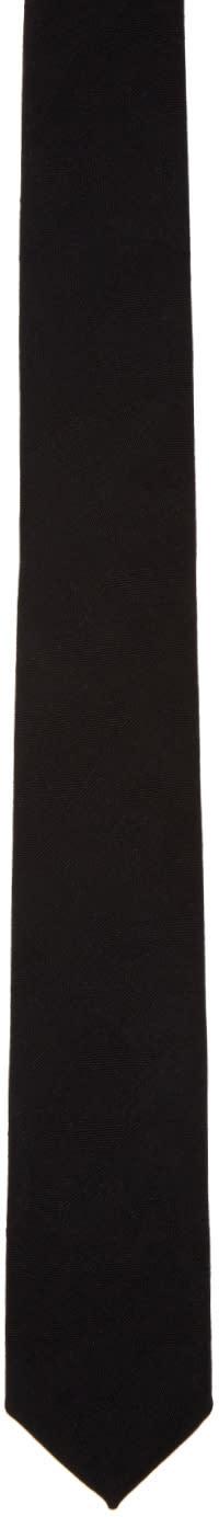 Neil Barrett Black Camo Skinny Tie
