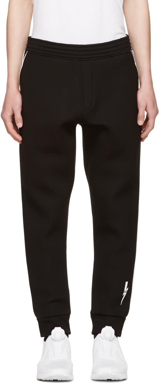 Neil Barrett Black and White Piping Lounge Pants