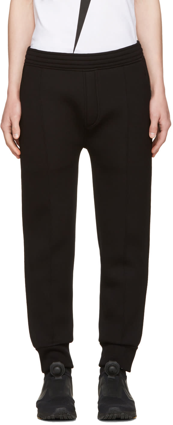 Neil Barrett Black Piping Lounge Pants
