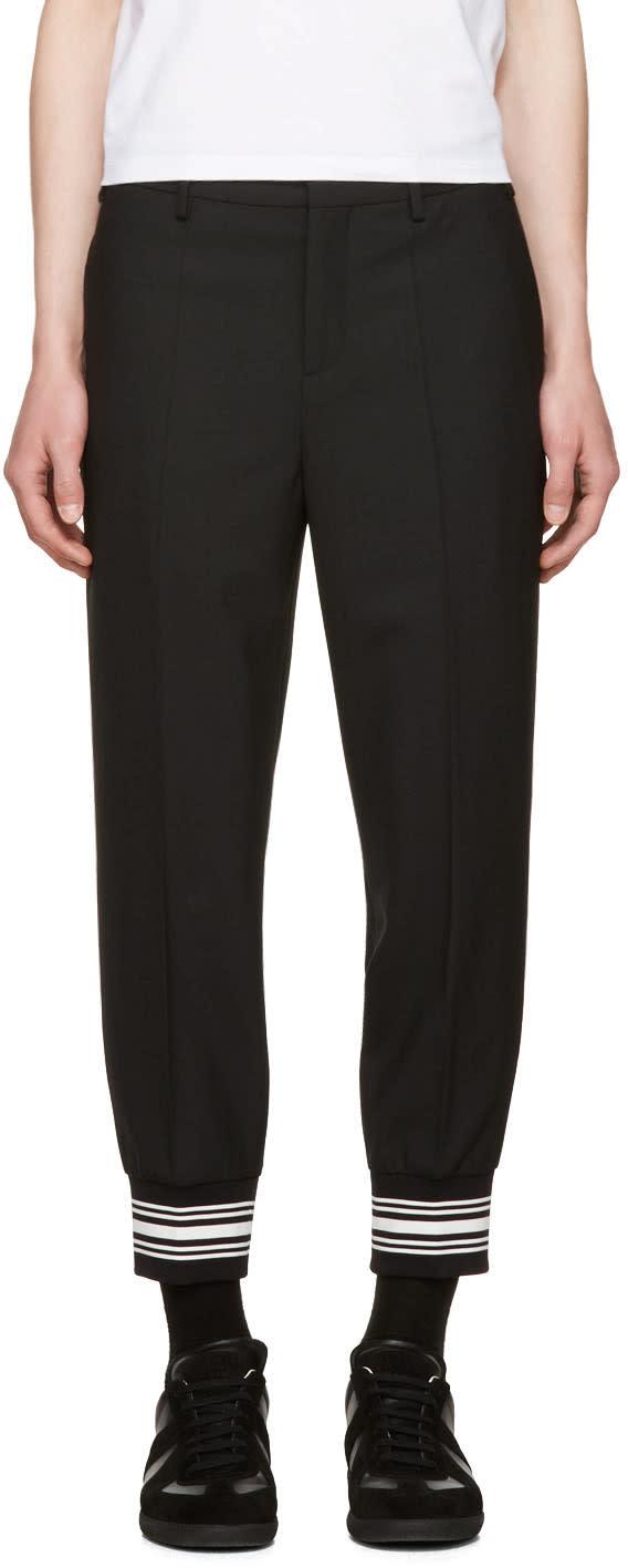 Neil Barrett Black Striped Cuff Trousers