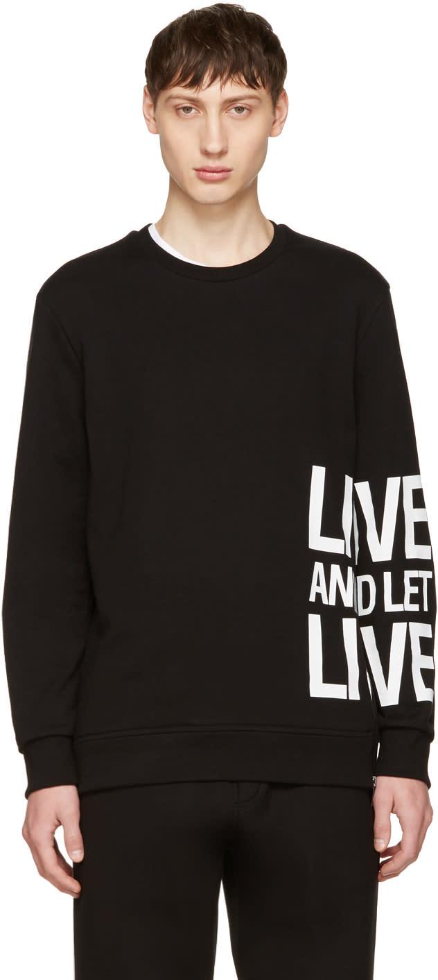Neil Barrett Black live and Let Live Sweatshirt