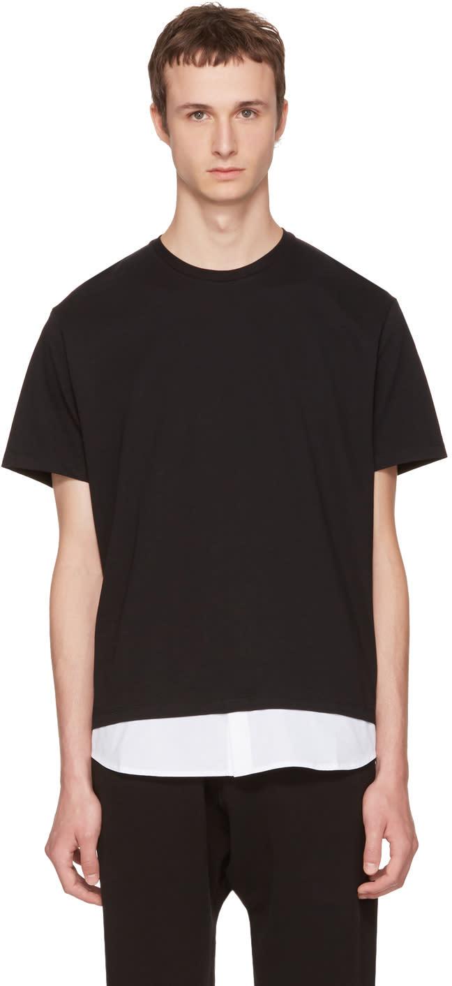 Image of Neil Barrett Black and White Combo T-shirt