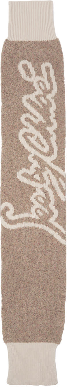 Image of See By Chloé Beige Logo Scarf