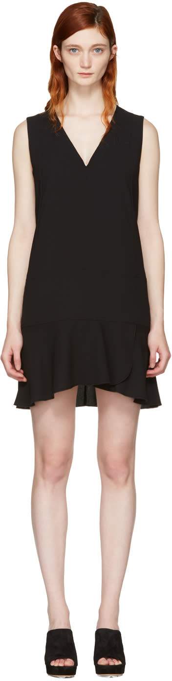 See By Chloe Black V-neck Dress