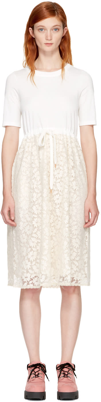 See By Chloé White Lace and Cotton Dress