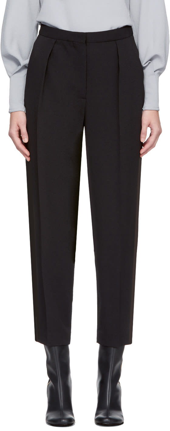 Image of See By Chloé Black Darted Trousers