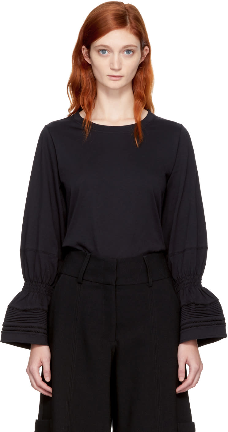 Image of See By Chloé Black Bell Cuff T-shirt