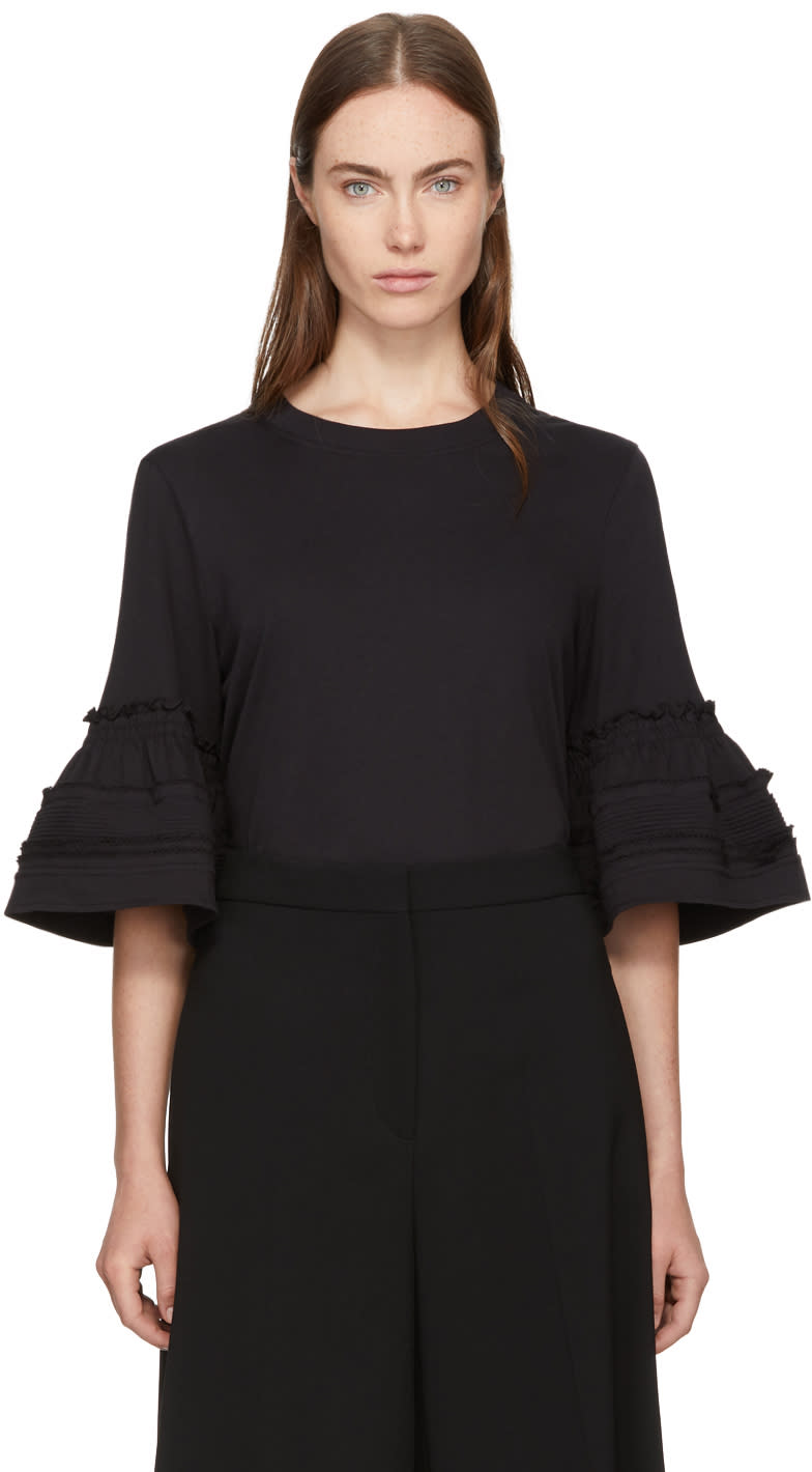 Image of See By Chloé Black Bell Cuff Shirt