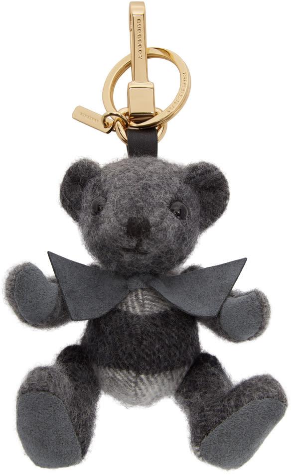 Burberry Grey Check Thomas Keychain