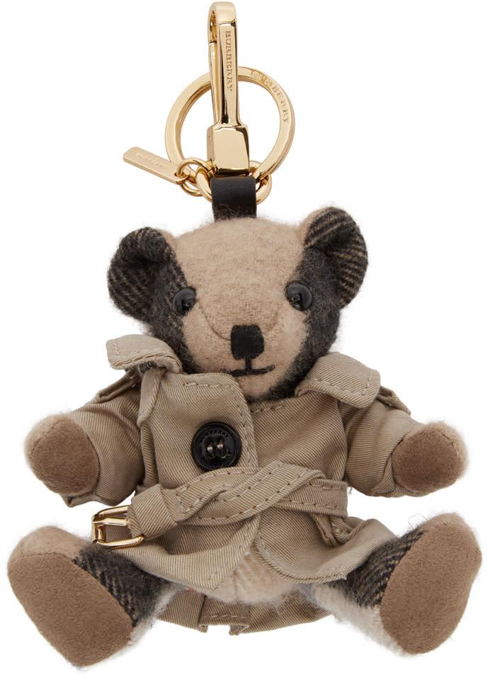 Burberry Tan Mr. Trench Thomas Bear Keychain