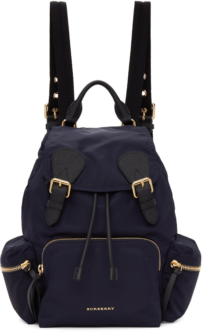7f3aa44c4438e Burberry Navy Medium Nylon Rucksack