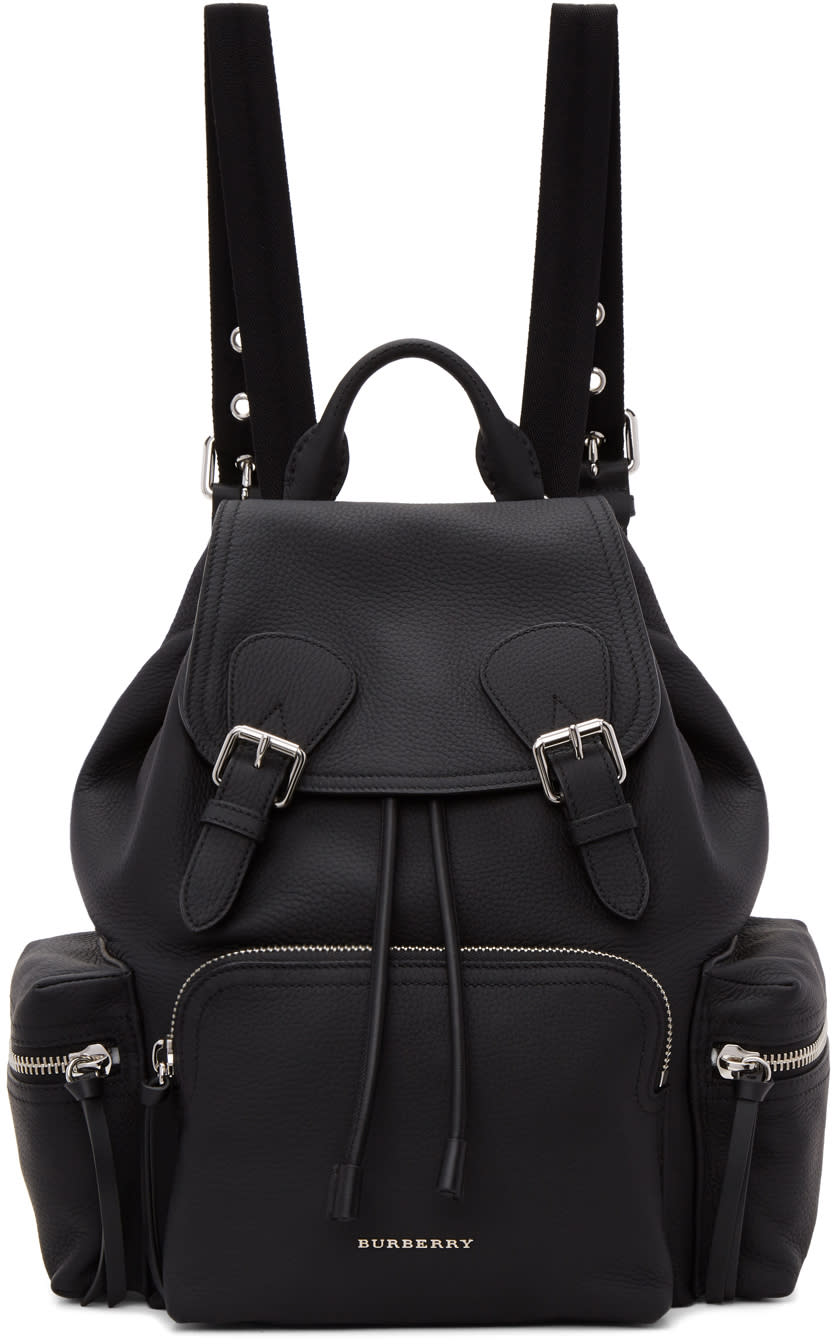 Burberry Black Leather Rucksack