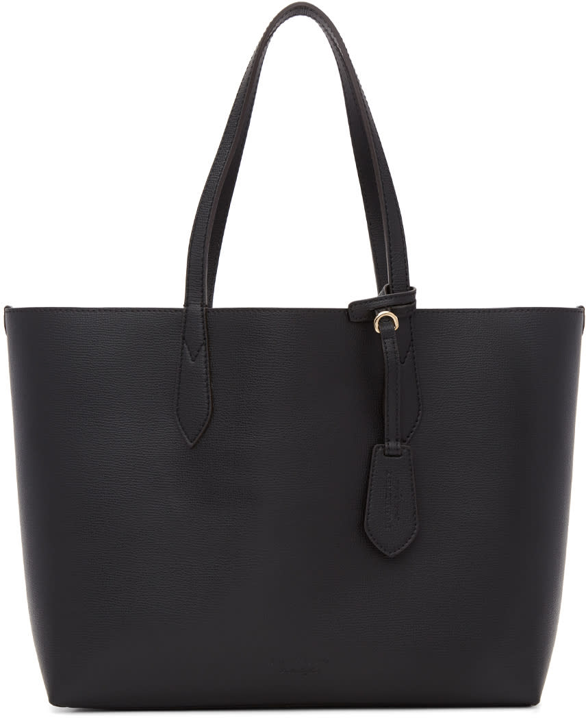 Burberry Reversible Black Haymarket Tote
