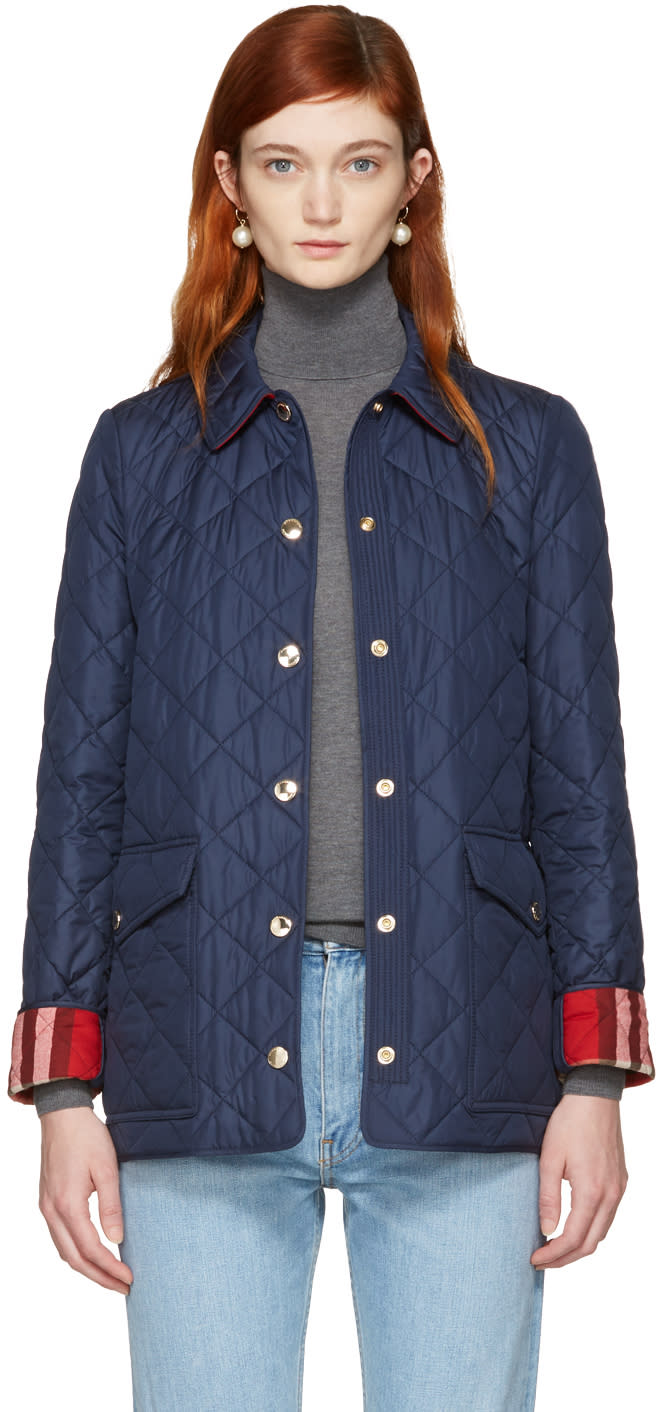 Burberry Navy Westbridge Jacket