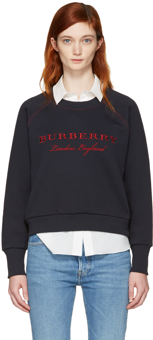 Burberry Navy Torto Logo Sweatshirt