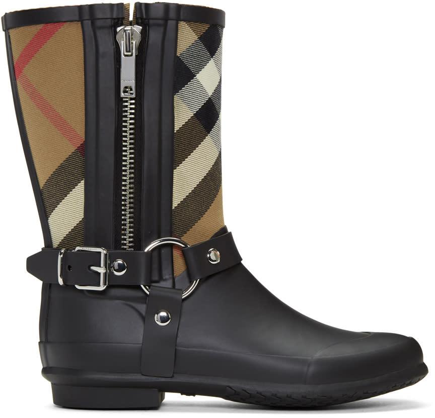 Burberry Black Zane Rain Boots