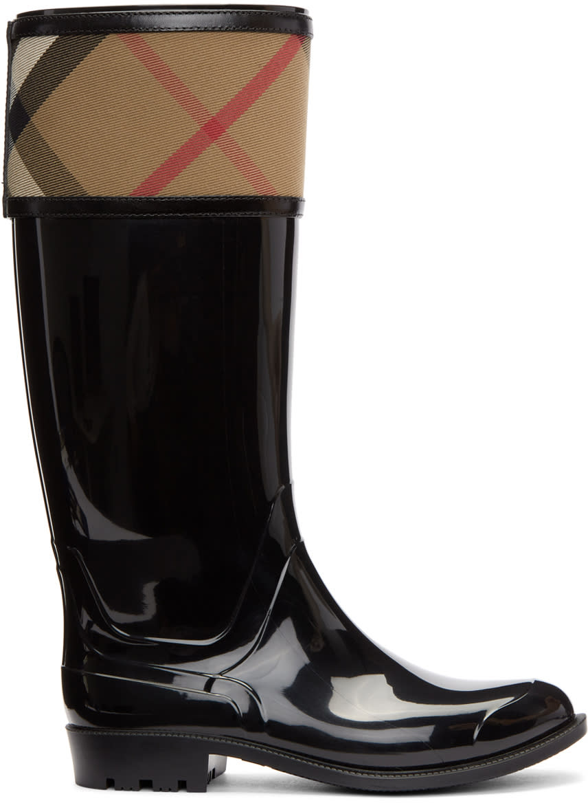 Image of Burberry Black Croshill Rain Boots