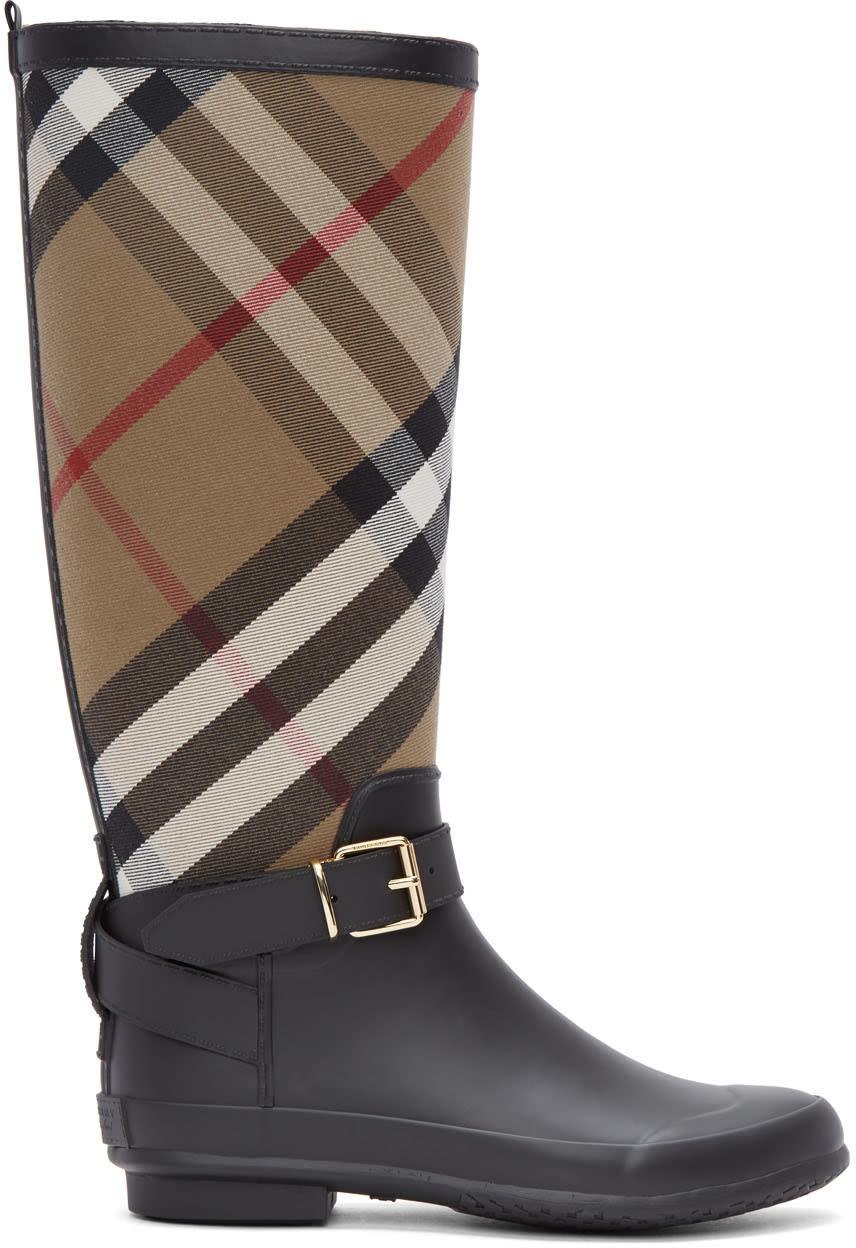 Burberry Black Simeon Rain Boots