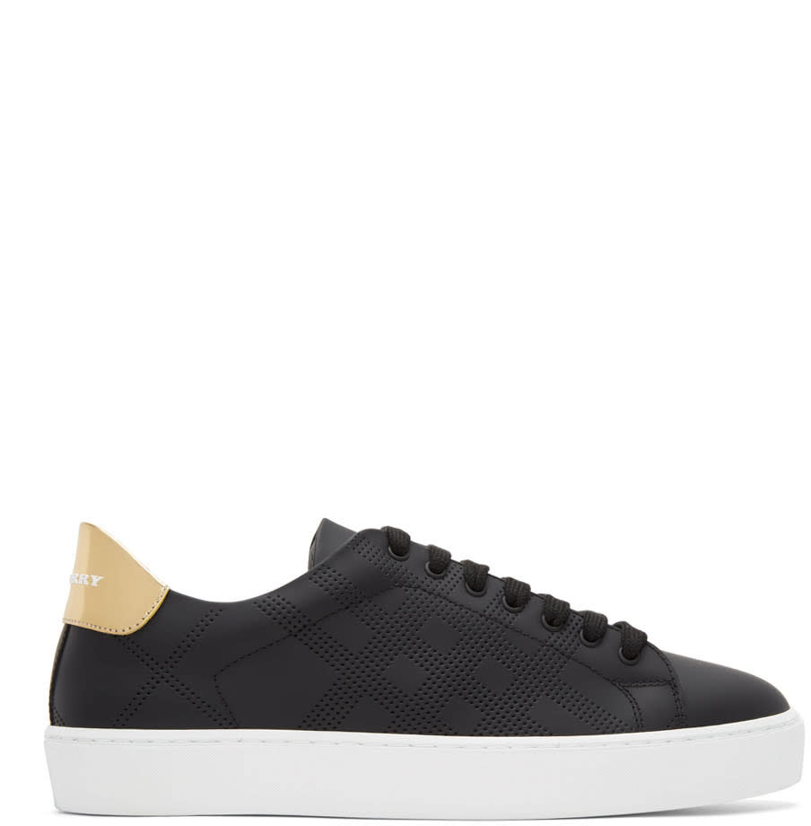 Burberry Black Westford Check Sneakers