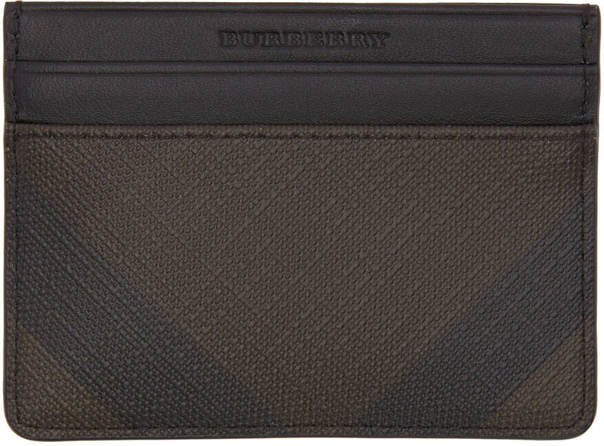 Burberry Brown Check Sandon Card Holder