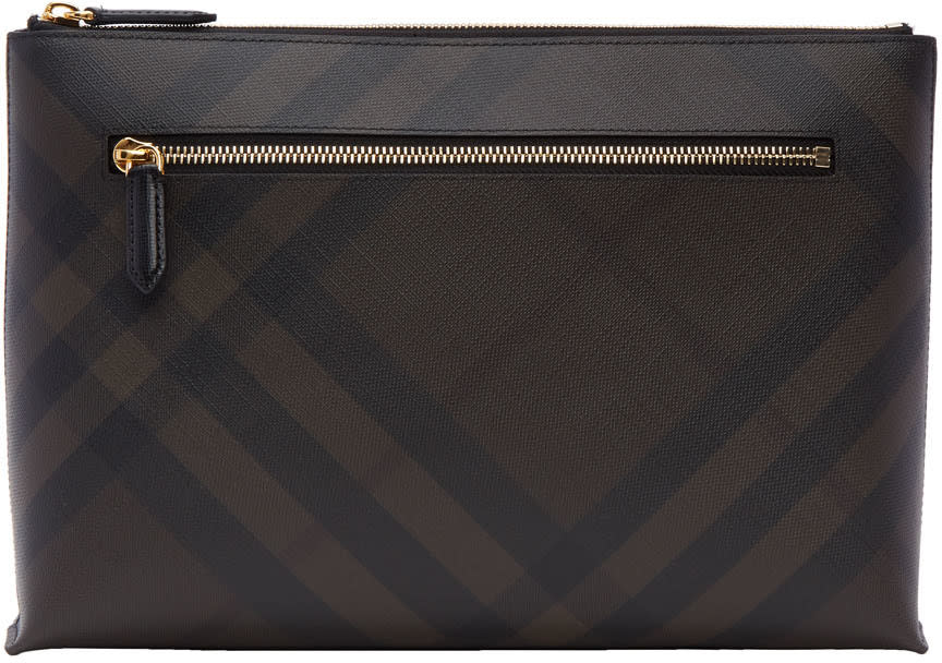Burberry Brown Duncan London Check Pouch