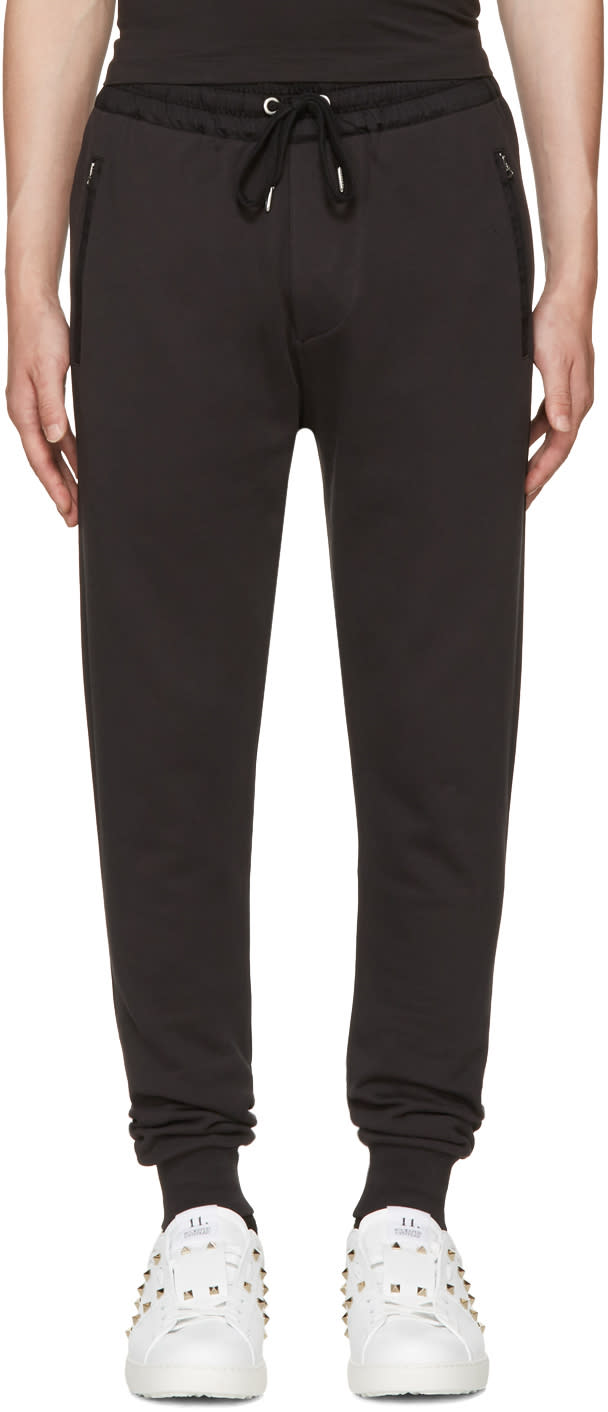 Image of Burberry Black Haleford Lounge Pants