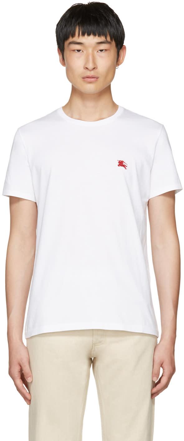 Burberry ホワイト タンウォース T シャツ