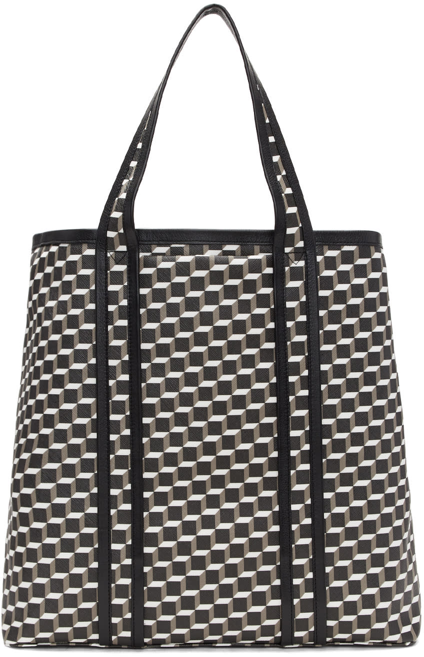 Image of Pierre Hardy Black and White Archi Cube Tote