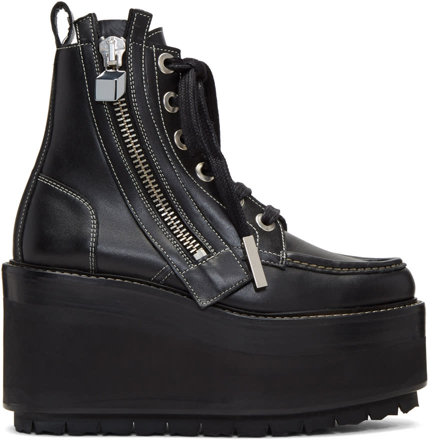 Pierre Hardy Black Up State Boots