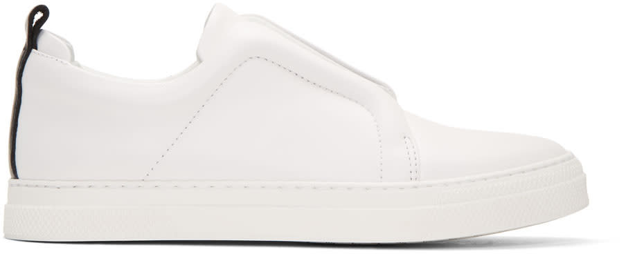 Pierre Hardy White and Black Slider Sneakers