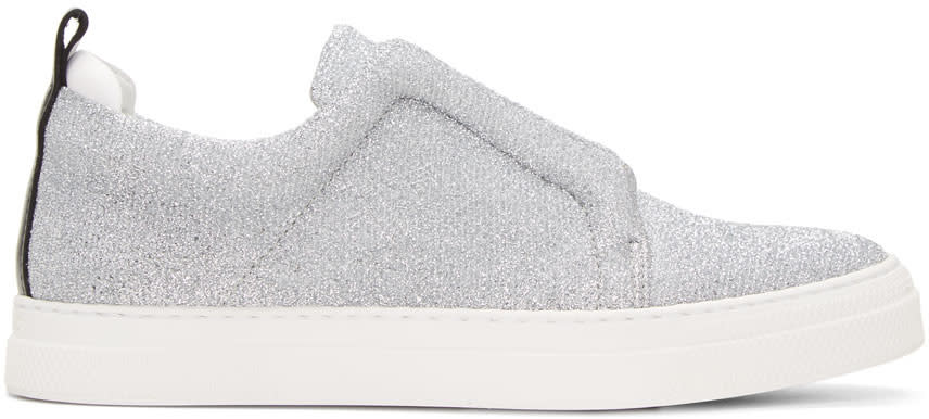 Pierre Hardy Silver and Black Slider Sneakers
