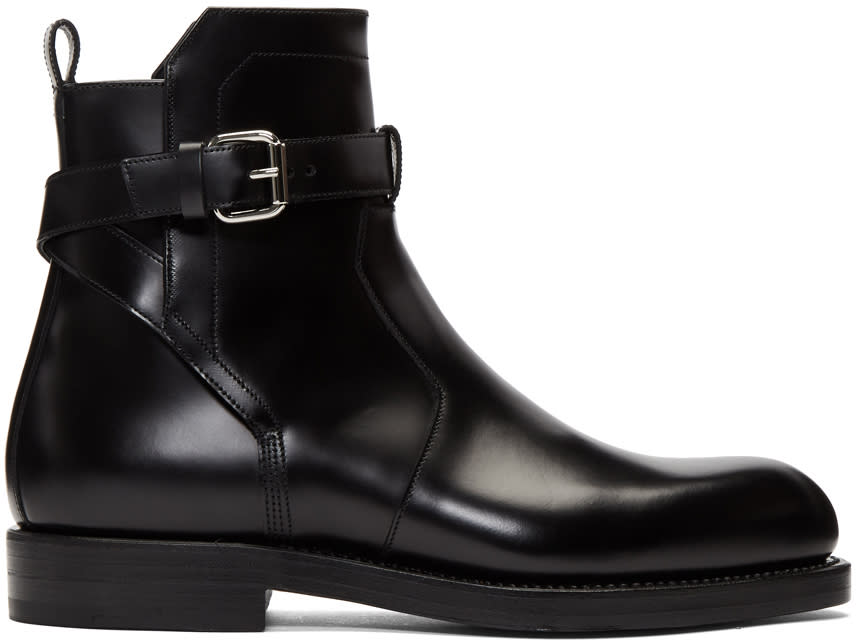 Image of Pierre Hardy Black Park Avenue Buckle Boots
