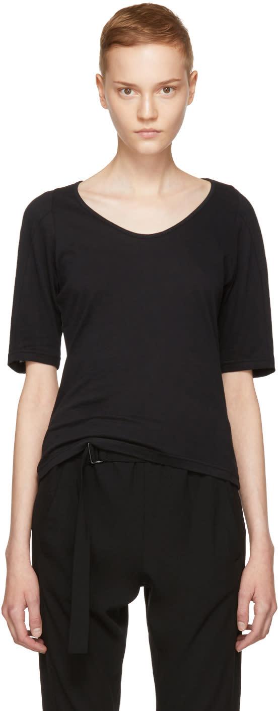 Ann Demeulemeester T-shirt Noir Half Sleeve