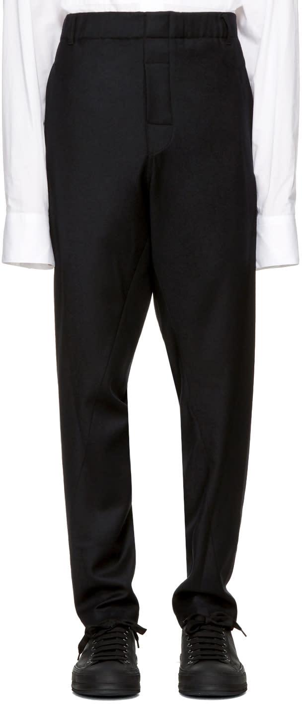 Image of Ann Demeulemeester Black Elastic Waist Trousers