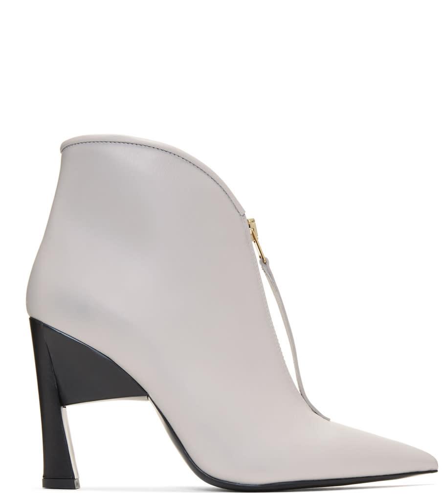 Marni Grey Pointed Half Boots