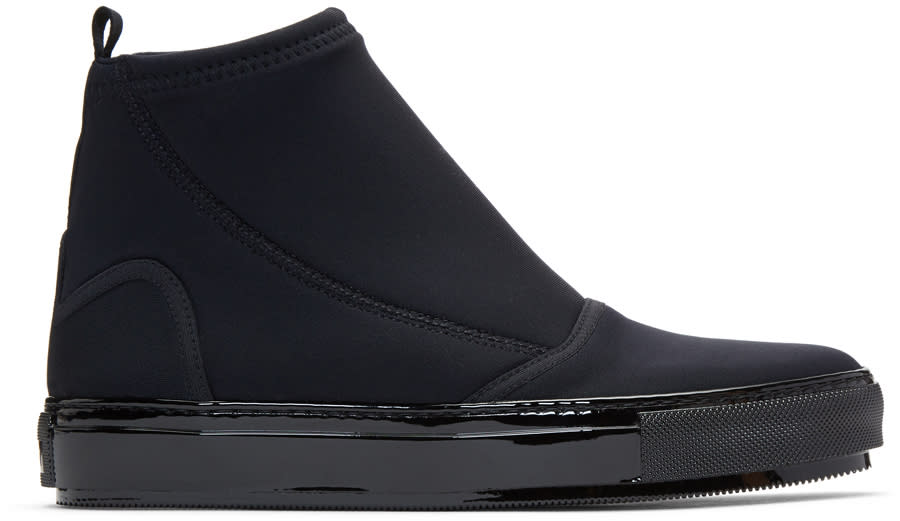 Image of Marni Black Neoprene Boots