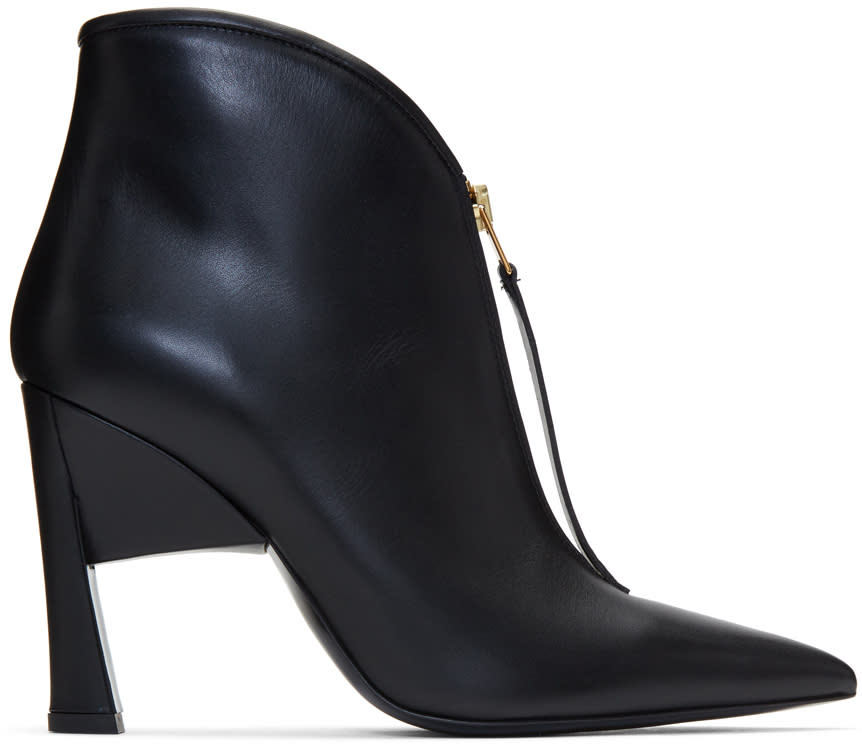 Marni Black Pointed Half Boots