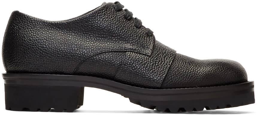 Image of Marni Black Lace-up Derbys