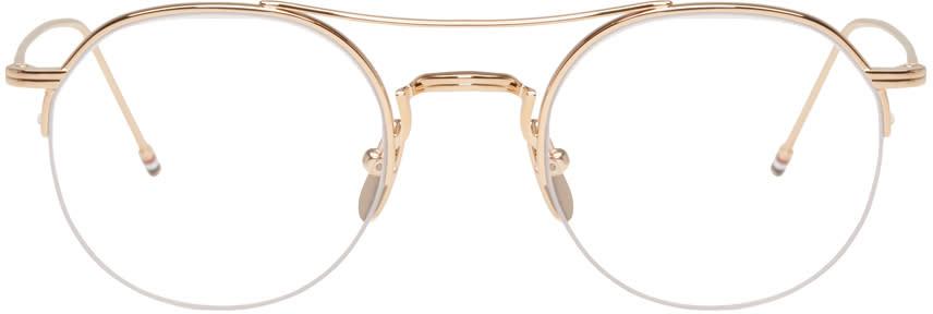 Thom Browne Gold Tb-903 Glasses
