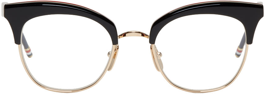 Thom Browne Black and Gold Tb 507 Glasses