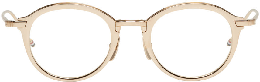 Thom Browne Gold Tb 110 Glasses