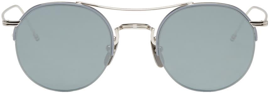 Thom Browne Silver Tb 903 Sunglasses