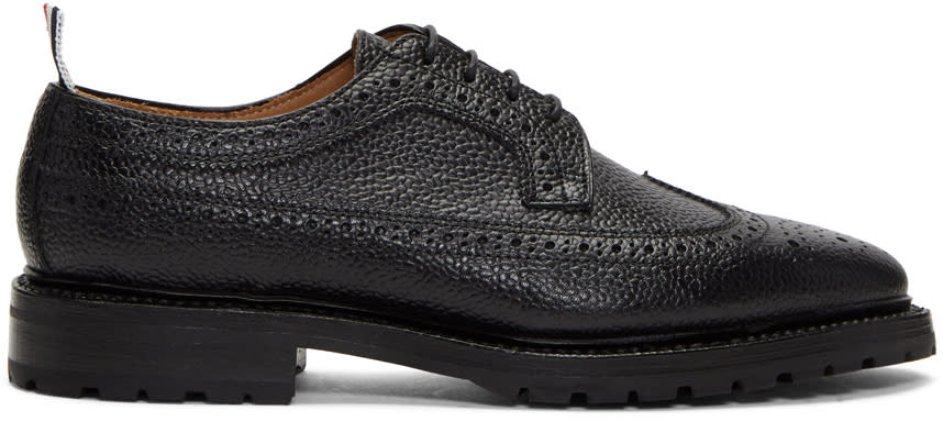 Thom Browne Black Double Welt Longwing Brogues